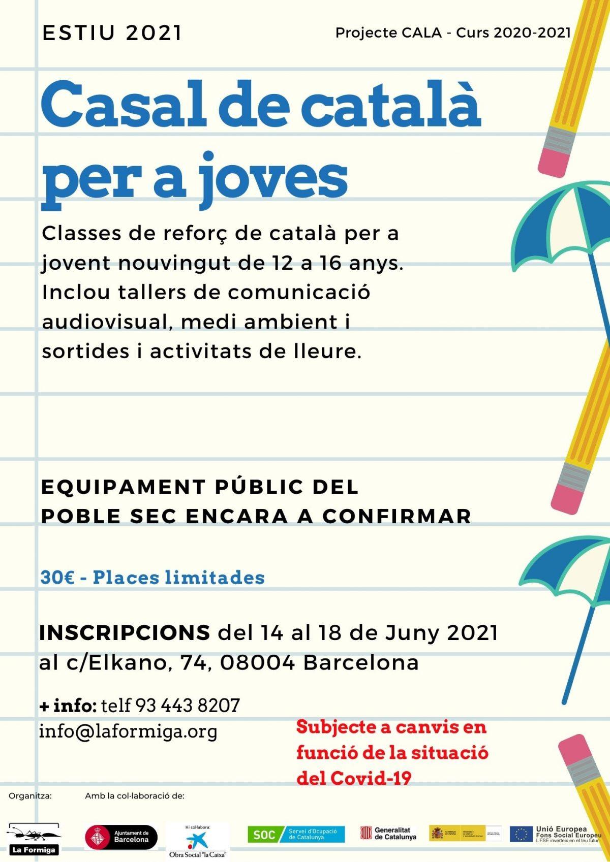 S'obren les inscripcions per a les classes de català intensives del mes de Juliol i Casal d'Estiu